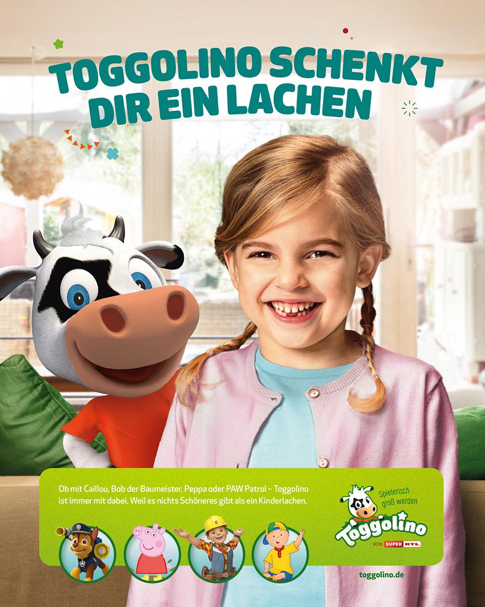 01 anzeigenkampagne toggolino super rtl kindershooting mädchenmotiv - Anzeigenkampagne: Toggolino schenkt dir ein Lachen