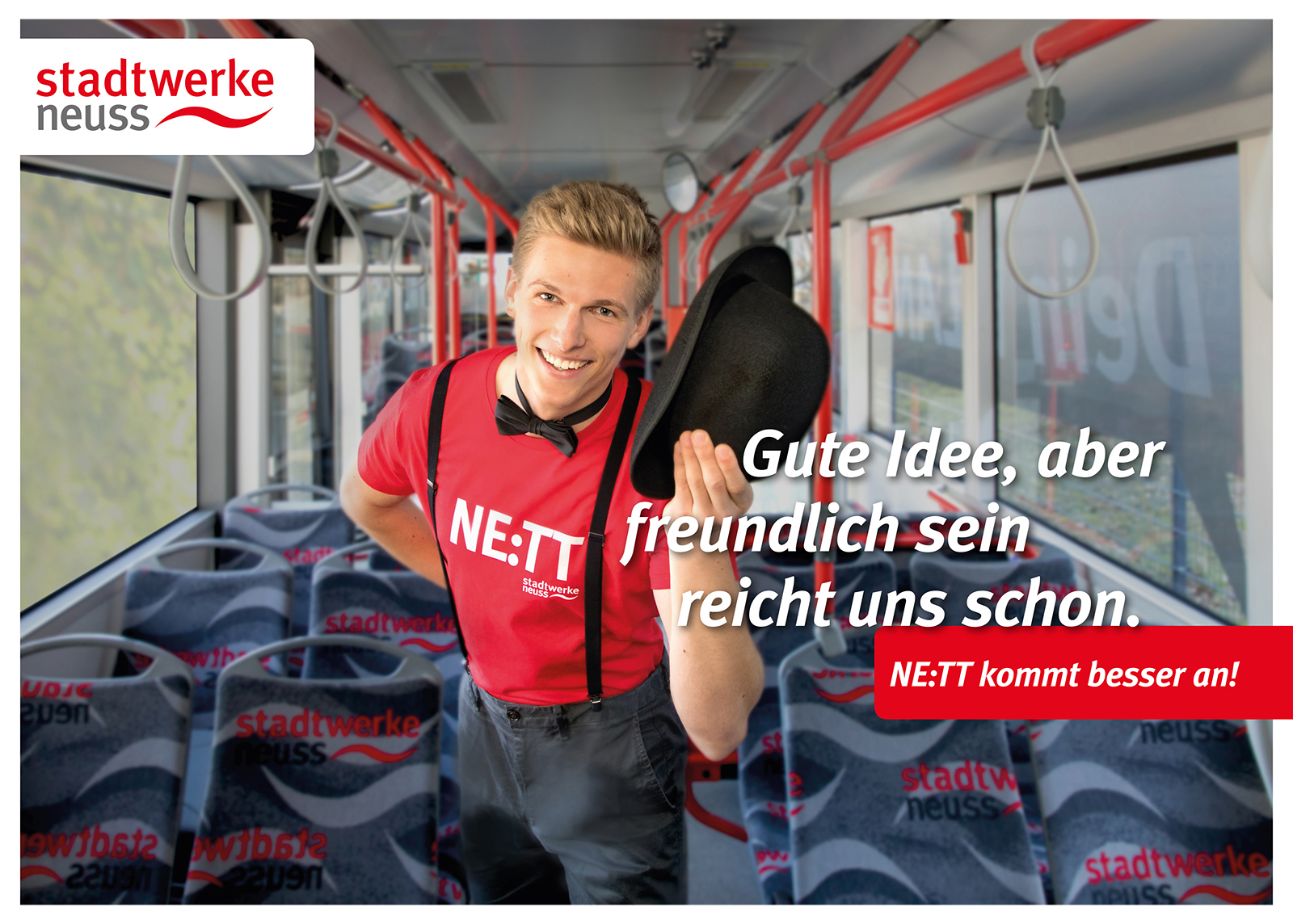 01 SWNE Kampagne Stadtwerke Neuss Werbung - Werbefotograf im Nahverkehr