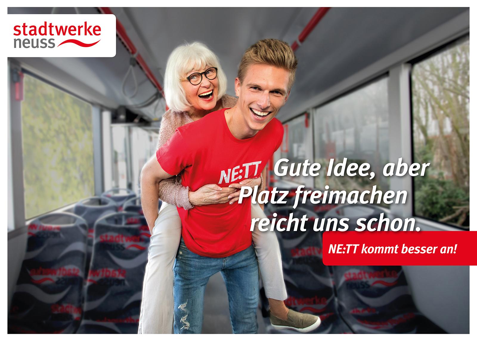 02 SWNE Kampagne Stadtwerke Neuss Werbung - Werbefotograf im Nahverkehr